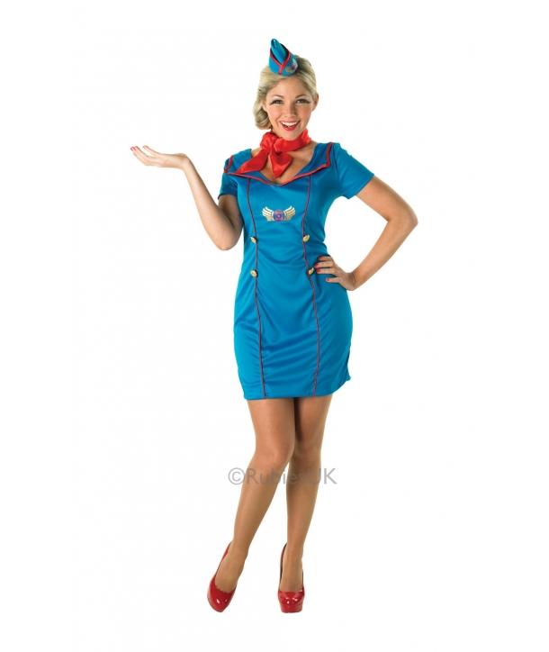 Costum femei Stewardesa albastra