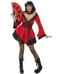 Costum carnaval femei Gheisa rosie