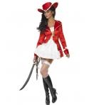 Costum carnaval femei Pirata rosie