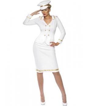 Costum carnaval femei Ofiter alb