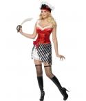 Costum carnaval femei Pirata cu fusta