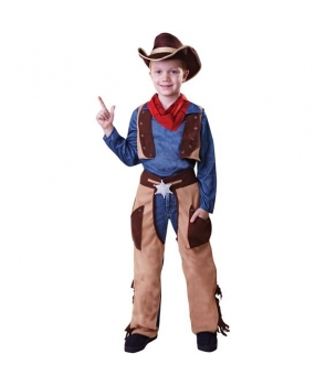Costum carnaval baieti cowboy maro