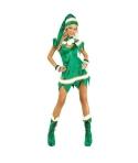 Costum Craciun femei spiridusa verde