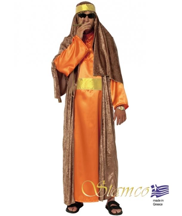 Costum carnaval barbati arab portocaliu