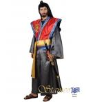 Costum carnaval barbati samurai albastru