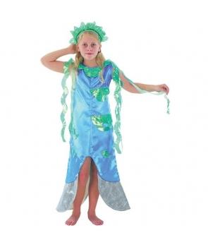 Costum carnaval fete sirena albastra