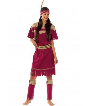 Costum carnaval femei indianca visinie