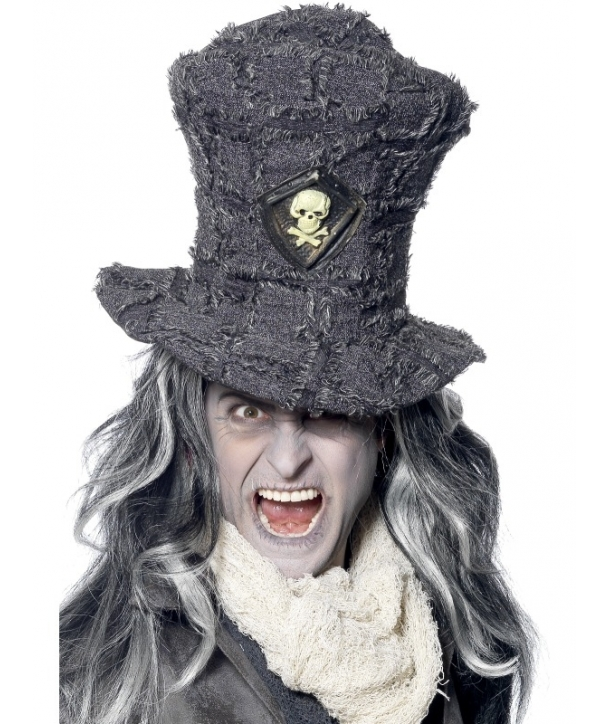 Palarie gri cu schelet Halloween