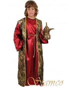 Costum Craciun copii Mag visiniu de lux