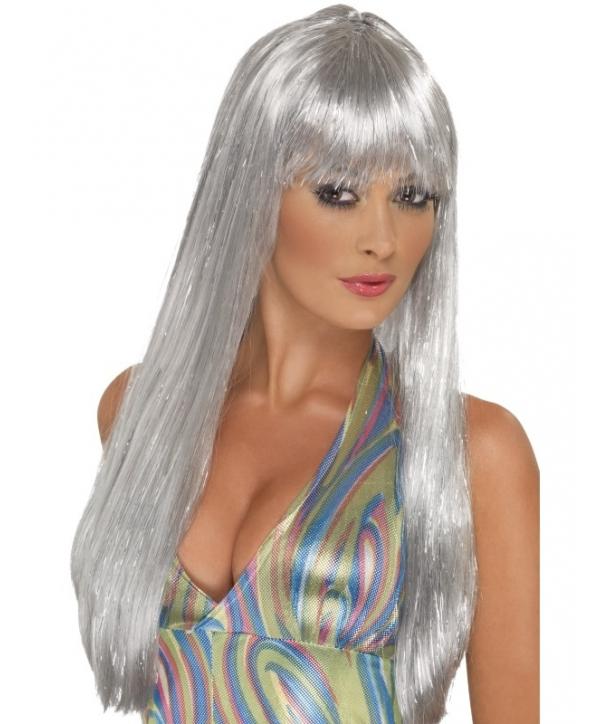 Peruca petrecere argintie