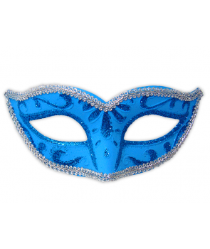 Masca de carnaval albastra
