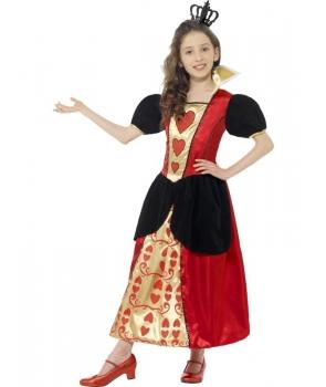 Costum carnaval fete Regina de inima rosie