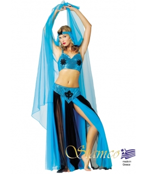 Costum carnaval femei belly dance albastru