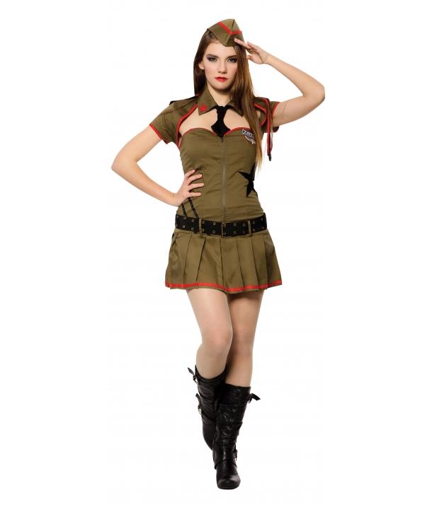 Costum carnaval femei soldat