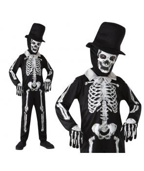 Costum Halloween baieti schelet zombie