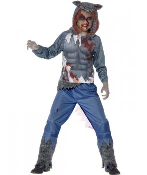 Costum Halloween adolescenti lup curajos