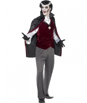 Costum Halloween barbati vampir cu gri