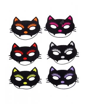 Masca Halloween copii pisica colorata