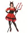 Costum Halloween femei diavolita cu corset