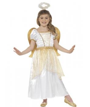 Costum Craciun Inger fata cu auriu