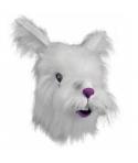 Masca de carnaval iepure alb