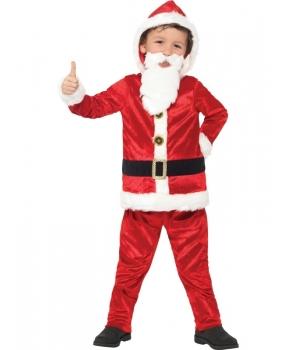Costum copii Mos Craciun cu burta si sunet