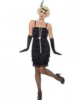 Costum carnaval femei Anii 20 negru model 6