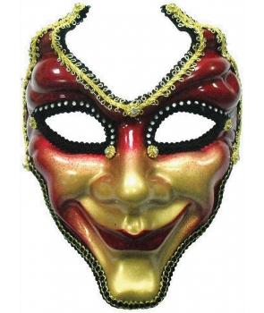 Masca de carnaval venetiana cu rosu