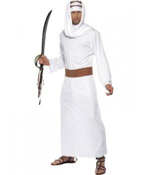 Costum carnaval barbati arab alb