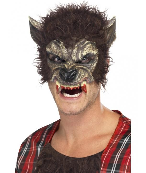 Masca horror varcolac gri Halloween