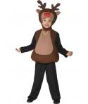 Costum Craciun copii Ren cu gluga
