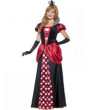 Costum carnaval femei Regina de Inima Rosie