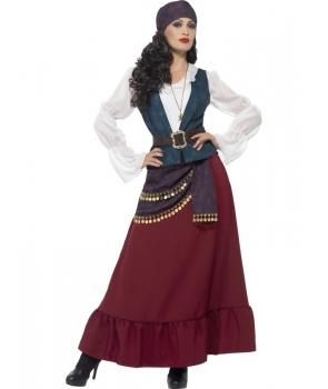 Costum carnaval femei pirata cu bandana de lux