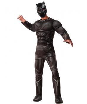 Costum carnaval adulti Black Panther cu licenta