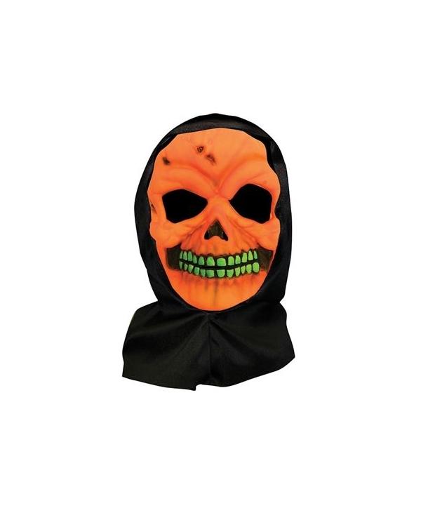 Masca schelet portocaliu Halloween