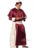 Costum barbati cardinal visiniu Halloween