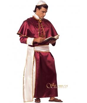 Costum carnaval barbati cardinal visiniu