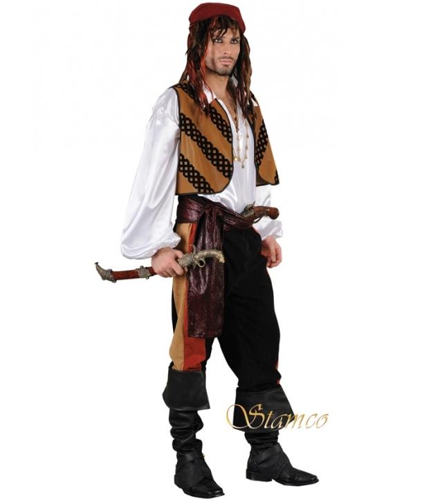 Costum barbati pirat cu vesta Halloween