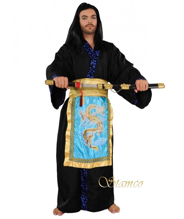 Costum barbati luptator chinez Halloween