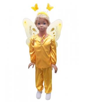 Costum carnaval copii fluture galben