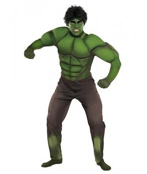 Costum carnaval barbati Hulk cu muschi