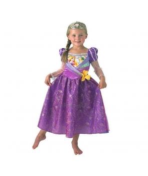 Costum carnaval fete Rapunzel cu coronita