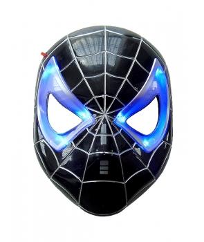 Masca Spiderman neagra cu lumini