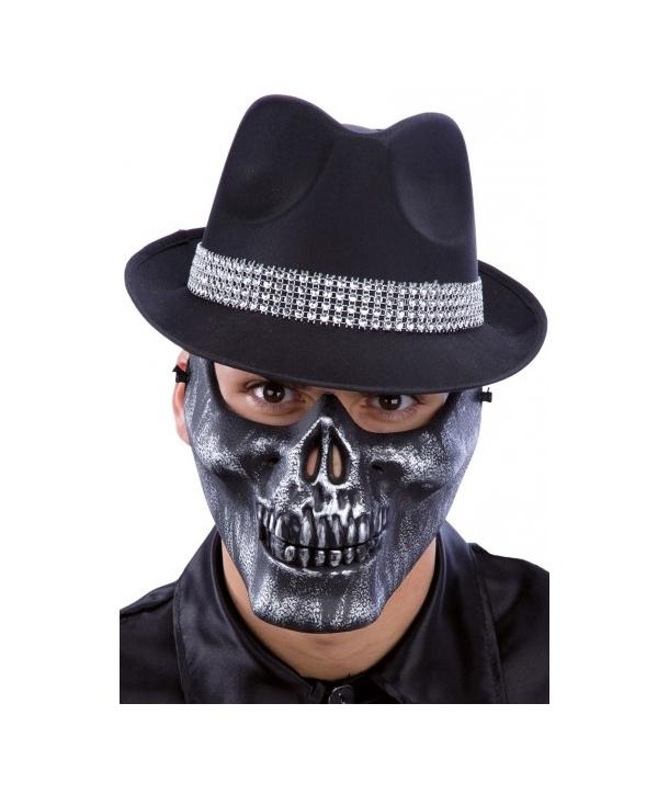 Masca Halloween schelet gri