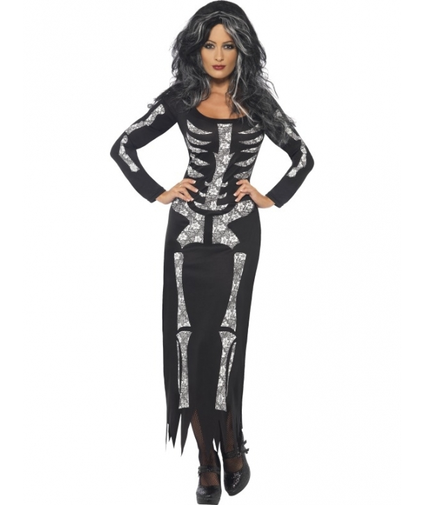 Costum femei schelet Halloween