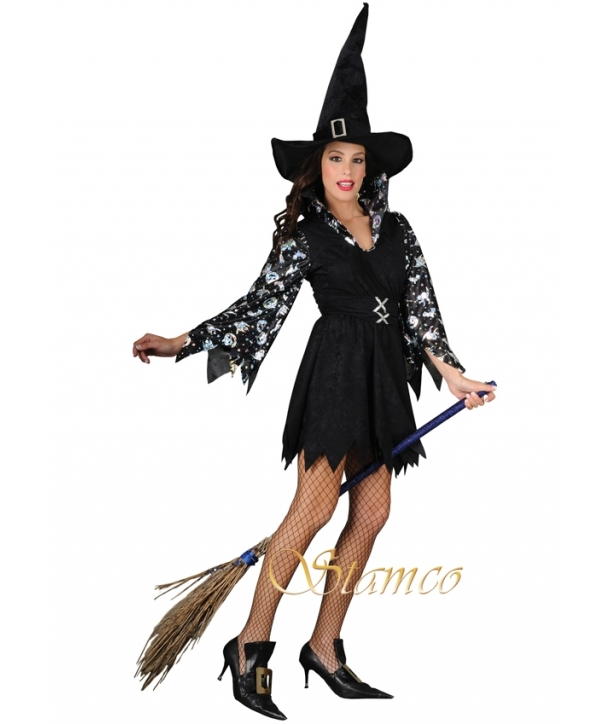 Costum femei vrajitoare neagra Halloween