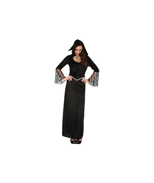 Costum femei negru cu dantela Halloween