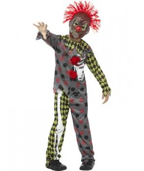 Costum Halloween baieti clovn cu masca