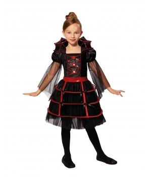 Costum Halloween fete vampirita eleganta cu guler