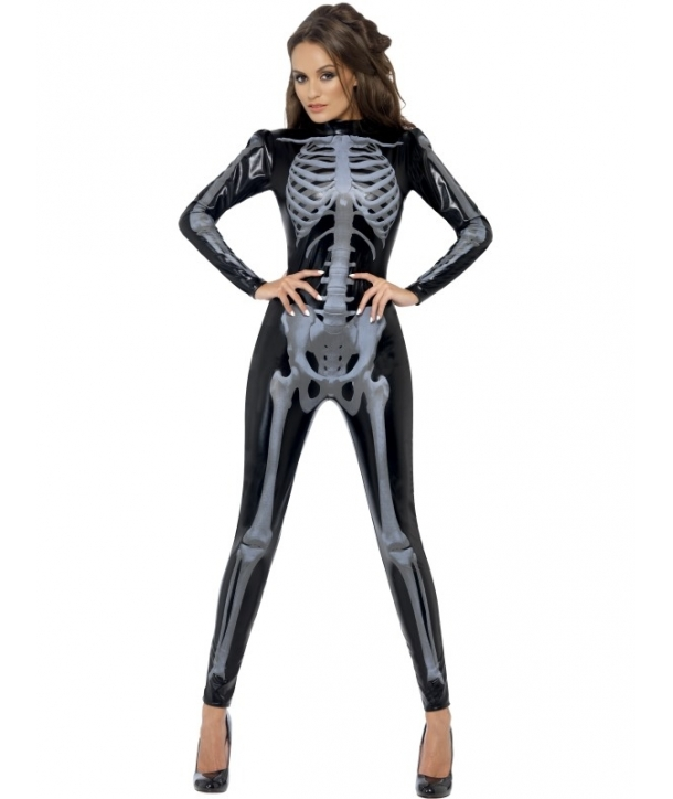 Costum femei schelet atragator Halloween